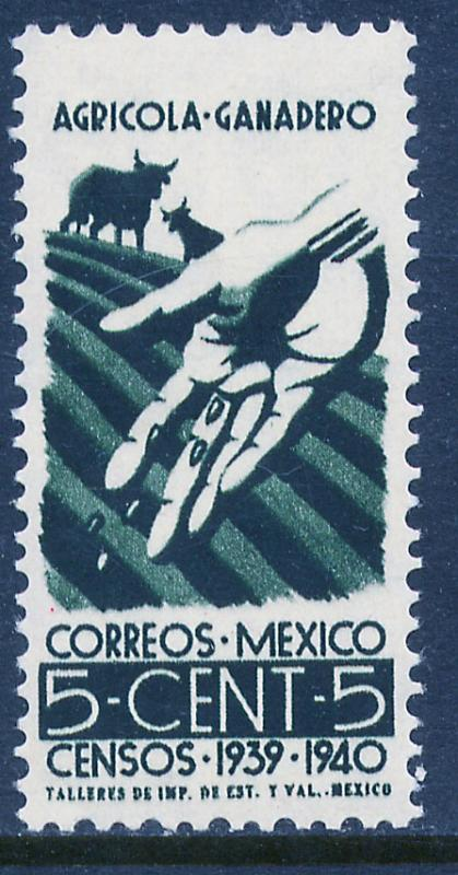 MEXICO 752, 5¢ Census, 1940. MINT, NH. VF.