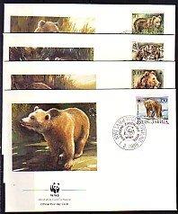 Yugoslavia, Scott cat. 1880-1883. WWF-Bears issue. 4 First day covers. ^
