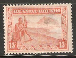 Ruanda Urundi used 15 cents Farmer Landscape