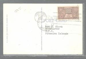 PITCAIRN ISLAND (P2903B) 1948 INCOING PPC FROM USA TO ROY CLARK POSTMASTER