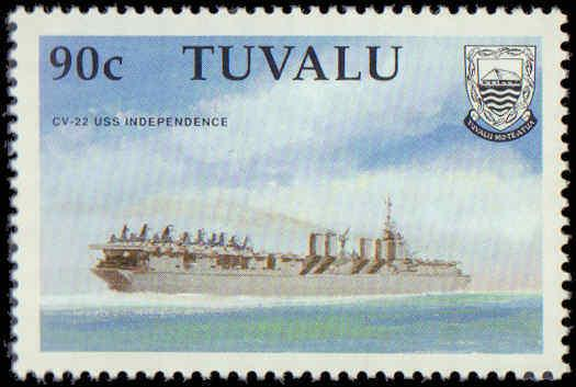 1990 Tuvalu #543-548, Complete Set(6), Never Hinged