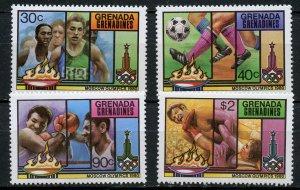 Grenada Grenadines MNH 383-6 Moscow Olympics 1980