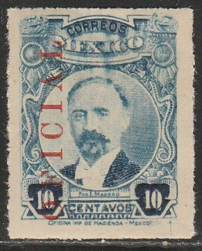 MEXICO O128, 10¢ OFFICIAL. Used. (1148)