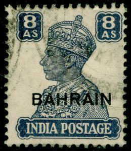 BAHRAIN SG49, 8a slate-violet, USED.