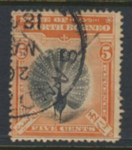 North Borneo  SG 100a Used  perf 15 please see scan & details