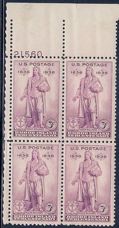 MALACK 777 F/VF or better OG NH, plate block of 4, R..MORE.. pbs0064