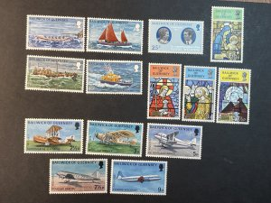 GUERNSEY # 81-94-MINT NEVER/HINGED--3 COMPLETE SETS & 1 SINGLES--1973-74