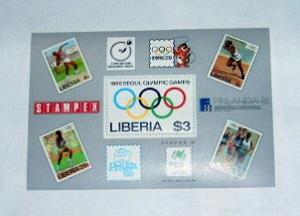 Liberia - 1081, MNH S/S Complete. Olympics. SCV - $10.00