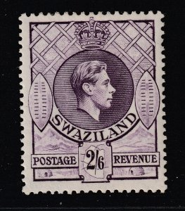 Swaziland  a MH KGVI 2/6
