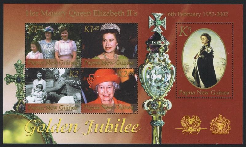 Papua New Guinea MNH S/S 1023 Golden Jubilee QE II 2002
