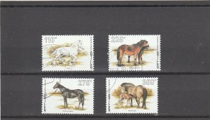 Netherlands Antilles  Scott#  774-7  CTO  (1998 Horses)