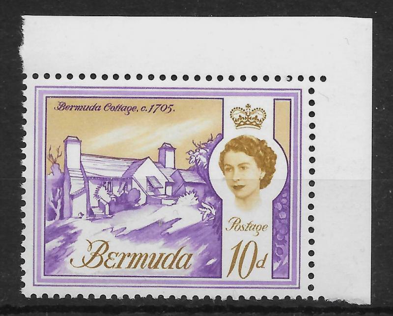 BERMUDA SG170a 1965 10d VIOLET & OCHRE MNH