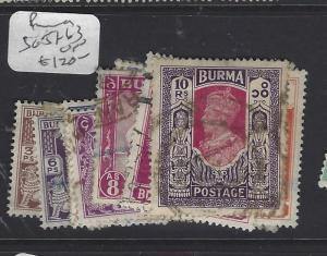 BURMA  (PP2410B)  KGVI  SET  CPLT  SG 51-63   VFU