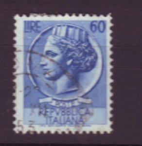 J22648 Jlstamps 1953-4 italy hv of set used #632 italia