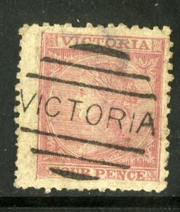 VICTORIA 76 USED (ROSE RED) SCV $5.00 BIN $2.00 ROYALTY