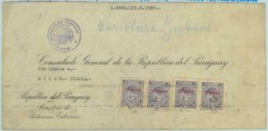84304 -  PARAGUAY -  POSTAL HISTORY - CONSULAR MAIL to ITALY 1938 - Judaica