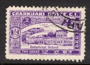 INDIA-CHARKHARI SG47(c) 1931 2a VIOLET p12 USED