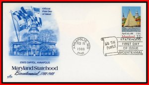 US FDC #2342 22c Maryland Statehood - Artcraft Cachet