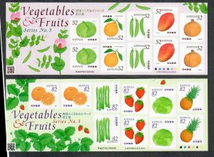 $Japan Sc#3800+3801 M/NH/VF, sheets of 10, Fruit, Cv. $26