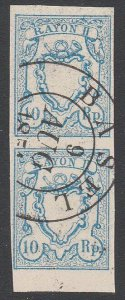 SWITZERLAND  An old forgery of a classic stamp - PAIR.......................C109