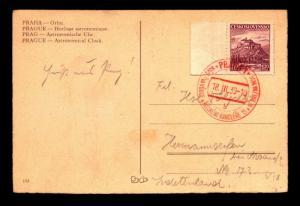 Czechoslovakia 1939 Occupation Card & Cancel - Z14022
