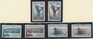 French Southern and Antarctic Territories Stamps Scott #2 To 7, Mint Never Hi...