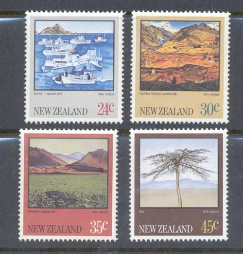 New Zealand Sc 780-3 1983 scenic views stamp set mint NH