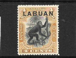 LABUAN   1900-02  4c  PICTORIAL  MLH  SG112
