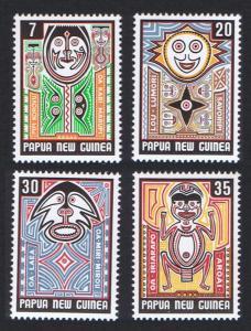Papua New Guinea MNH 474-7 Folklore Elema Art