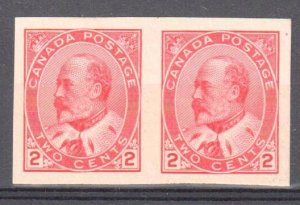 Canada #90A Mint XF OG LH/NH Imperf Pair C$75.00