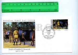 242062 MARSHALL ISLANDS WWII Death of Franklin D.Roosevelt 1995 year FDC
