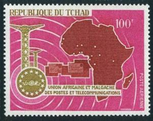 Chad C37,MNH.Michel 183.Michel 183. UAMPT African Postal Union,1967.Map.