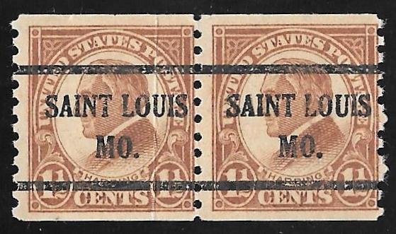 598 1 2 Cent Harding Brown Coil Precancel Stamp Used AVG FAULT