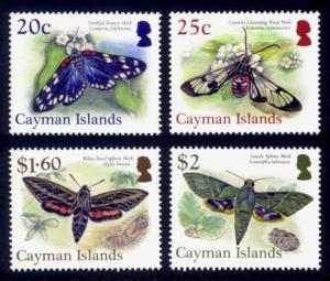 Cayman Islands Sc# 1188-91 MNH Moths