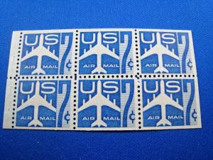 U.S. STAMPS FOR COLLECTORS - SCOTT #C51a BOOKLET PANE    MNH    (kbc51)