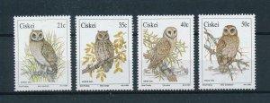 [102734] Ciskei 1991 Birds vögel oiseaux owls  MNH