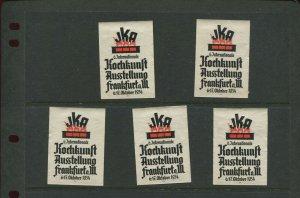 5 VINTAGE 1934 GERMANY FRANKFURT OCTOBERFEST OCT 6-17TH  POSTER STAMPS (L1166)