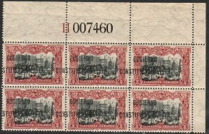 MEXICO 431Var, 50¢ With $ Revolutionary overprint SHIFTED BLK OF 6 MINT, NH. VF
