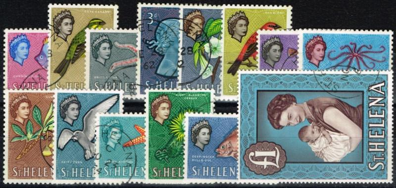 St Helena 1961 set of 14 SG176-189 Superb Used