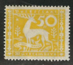 Germany State Wurttemberg Scott o57 MH* 1920 50pf Stag stamp