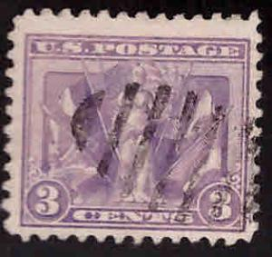 USA Scott 537 Used WW1 Victory flag stamp 1919