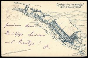 Germany 1898 SW Africa OUTJO DSWA Mi3 10pf Stamp Cover Oppeln 78452