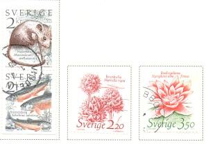 Sweden Sc  1526-9 1985 Conservation WWF stamp set used