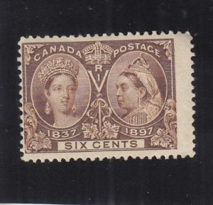 Canada: 6c Jubilee Issue, Sc #55, MH, Heavy Hinged (38504)