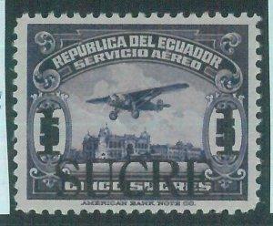 86992h - ECUADOR  - STAMP - overprinted stamp SANABRIA ESSAY ED hinged 1  sucre