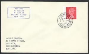 GB SCOTLAND 1970 cover M.V. LION Clyde Steamer cachet......................12061