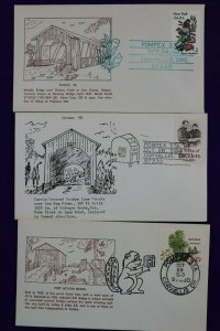 POMPEX show cachet lot philatelic souvenir cover Corvalis Oregon OR 1978-1984