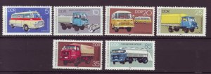 J25343 JLstamps 1982 germany DDR mnh set #2301-6 transportation