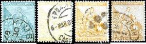 Cape of Good Hope #50-54, Incomplete Set(5), 1884-1898, Used