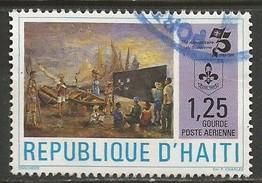 HAITI 758 VFU BOY SCOUTS 30C-1
